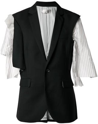 Faith Connexion asymmetric sleeve blazer
