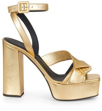 Giuseppe Zanotti Laila Metallic Leather Platform Sandals