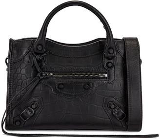 Balenciaga Mini City Bag in Black | FWRD