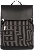 Fendi Gray/black Striped Backpack