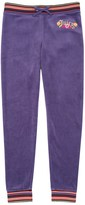 Juicy Couture Girls Logo Velour Garden Embroidery Zuma Pant