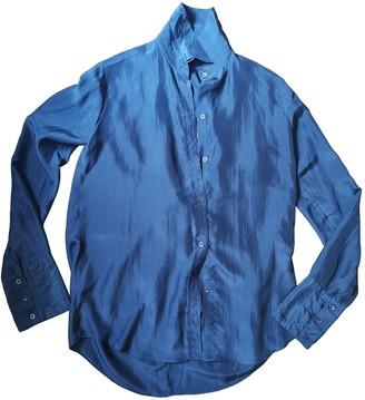 Romeo Gigli Blue Silk Top for Women