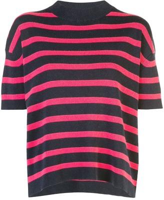 Barrie striped short sleeve jumper