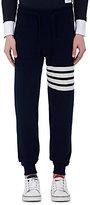 Thom Browne Men's Striped Cashmere Jogger Pants-NAVY