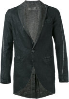 Transit - open seam detail blazer - men - Cotton/Linen/Flax - S