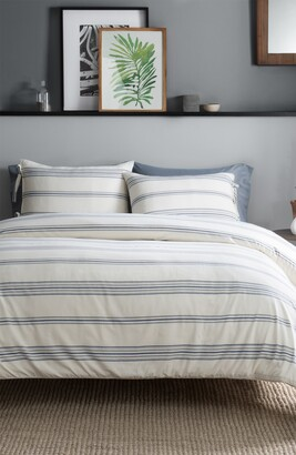 Pendleton Ticking Stripe Duvet Cover & Sham Set
