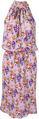 Moschino Pre Owned floral halter dress