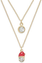 Charter Club Gold-Tone Layered Crystal Santa Necklace, Only at Macy's