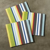 Crate & Barrel Striped Paper Lunch Napkins, Set of 20