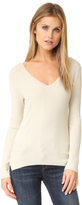 525 America Variegated Rib V Neck Sweater