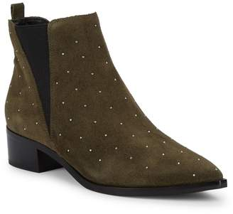 Marc Fisher Yanaba Micro-Studded Suede Ankle Booties