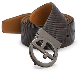 Giorgio Armani Plate Leather Belt