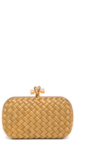 Bottega Veneta Knot Clutch in Metallics.
