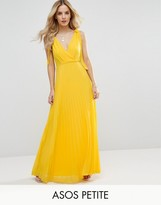 Asos Cami Strap Tie Pleated Maxi Dress