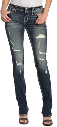 Rock Revival Priya Ripped Straight Leg Jeans