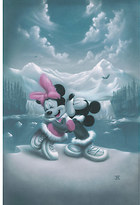 Disney Mickey Mouse and Minnie ''Alaska Adventure'' Giclée by Noah
