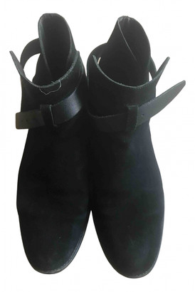 Sandro Black Suede Boots