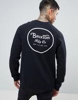 Brixton Sweatshirt With Back Wheeler Print