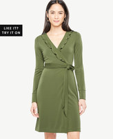 Ann Taylor Ruffle Trim Wrap Dress