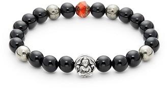 Jean Claude Onyx Stainless Steel Spiritual Beaded Bracelet