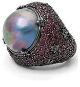 Stephen Dweck Verona Mabe Pearl & Rhodolite Garnet Ring