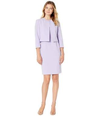 Le Suit Women's Open Jacket Crepe Dress Suit