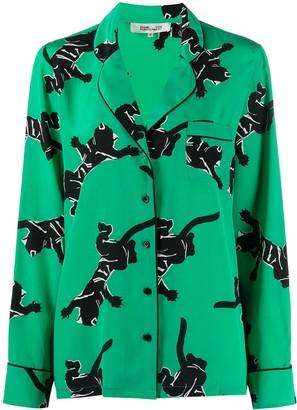 Diane von Furstenberg Graphic-Print Silk Shirt