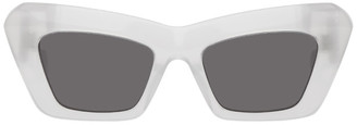 Loewe White Oversized Cat-Eye Sunglasses