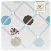 JoJo Designs Blue and Brown Mod Dots Fabric Memory/Memo Photo Bulletin Board by Sweet