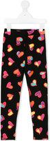 Moschino Kids - heart print leggings - kids - Cotton/Spandex/Elastane - 4 yrs