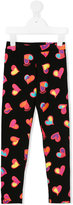 Moschino Kids heart print leggings