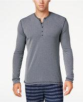 Kenneth Cole Reaction Men's Ribbed Henley Sleep Shirt
