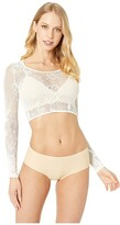 Spanx Fishnet Floral Arm Tights (Soft White) Women's T Shirt