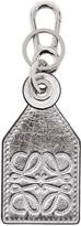 Loewe Silver Tag Charm Keychain