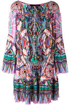 Roberto Cavalli abstract print shift dress - women - Silk/Cotton - 40