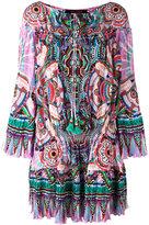 Roberto Cavalli abstract print shift dress