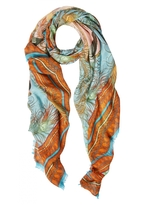 Matthew Williamson Flamingo DNA Modal Cashmere Large Scarf