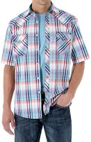 Wrangler 20X Plaid Shirt - Snap Front, Short Sleeve (For Men)