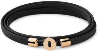 Miansai Nexus 18K Yellow Goldplated Sterling Silver & Leather Wrap Bracelet