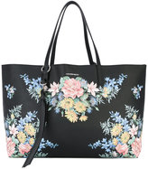 Alexander McQueen floral tote bag - women - Leather - One Size