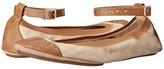 Yosi Samra Abbey Leather Flat with Lagarto Leather Cap Toe