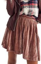 Madewell Women's Crushed Velvet Miniskirt