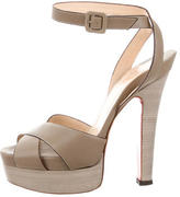 Christian Louboutin Platform Cross-Strap Sandals