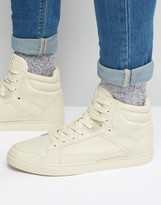 Asos High Top Sneakers in Stone With Panels