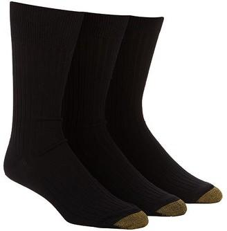 Gold Toe Canterbury Big & Tall Crew Dress Socks 3-Pack