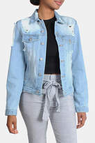 Love Tree Distressed Denim Jacket