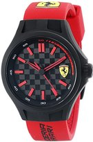 Ferrari Men's 0840003 Pit Crew Watch with Red Band