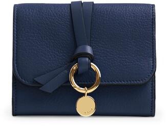 Chloé Small Leather Alphabet Tri-Fold Wallet