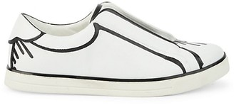 Fendi Trompe L'Oeil Leather Sneakers