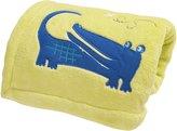 Kids Line Zutano Embroidered Boa Blanket, Alligators